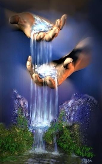 L'eau , les mains , la VIE